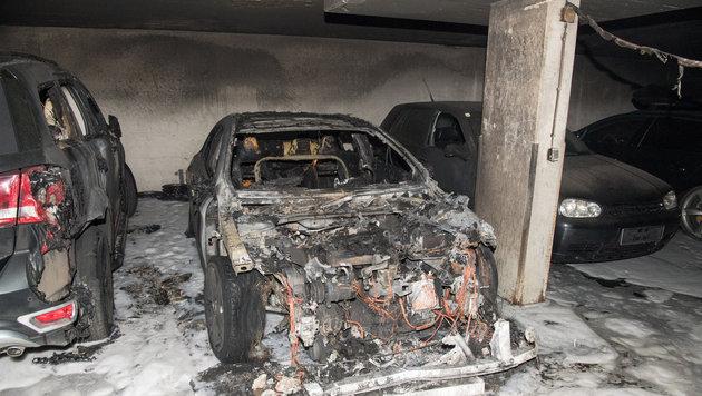 Bei dem Brandanschlag am 23. April in der Tiefgarage entstand enormer Sachschaden. (Bild: FOTOKERSCHI.AT/KERSCHBAUMMAYR)