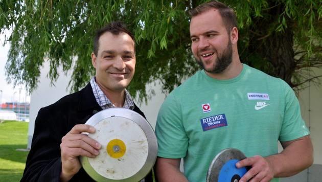Trainer Gregor Hoegler und Lukas Weißhaidinger (Bild: Olaf Brockmann)