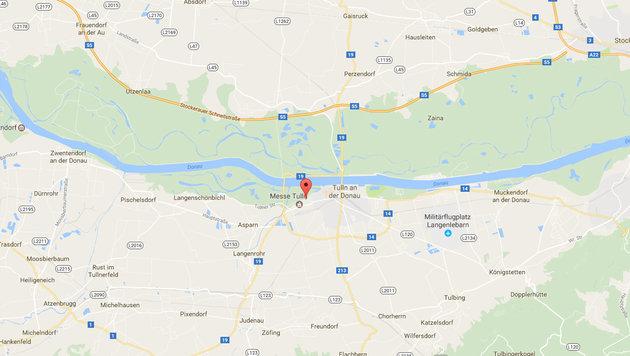 Jetzt verweigert Tulln Aufnahme von Flüchtlingen (Bild: Screenshot Google Maps)