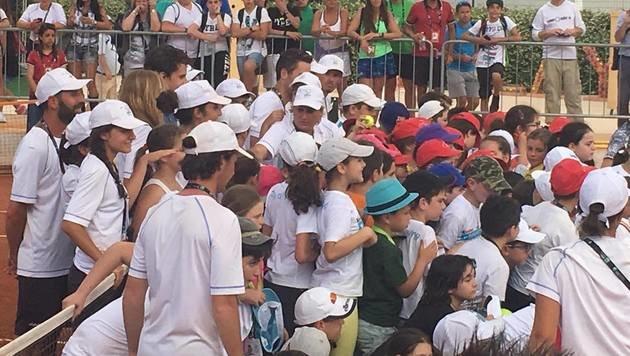 Thiem-Schauen war am Dienstag bei den italienischen Kids Trumpf. (Bild: Franz Hollauf)