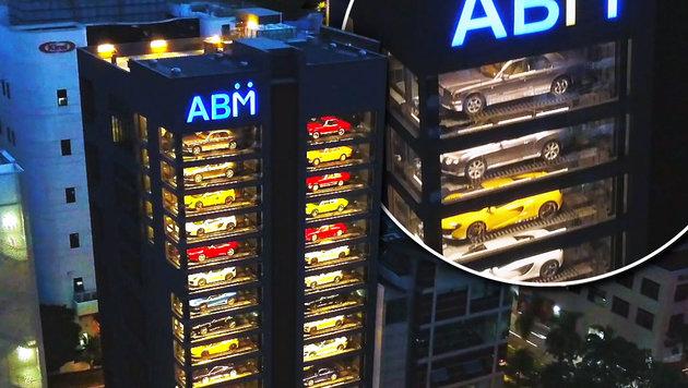"""""""Automat"""" spuckt in Singapur Luxuskarossen aus (Bild: Senatus)"""