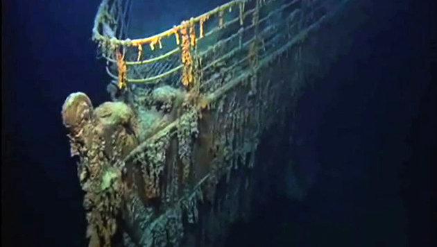 """Bakterien zerfressen das Wrack der """"Titanic"""" (Bild: NOAA/Emory Kristof, National Geographic)"""