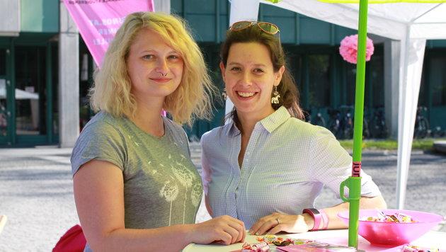 katharina WOlf (li.) und Marie-Therese Milotta-Berk von den JUNOS (Bild: Christoph Gantner)