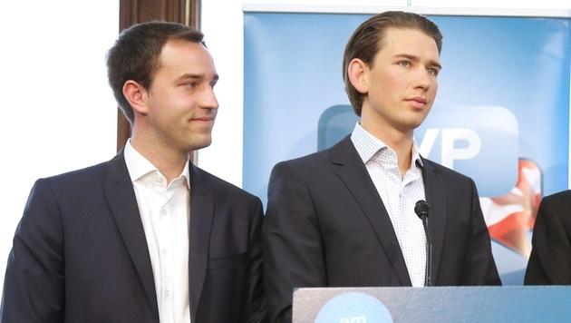 Stefan Schnöll und Sebastian Kurz im Jahr 2014 (Bild: APA/ÖVP/JAKOB GLASER)