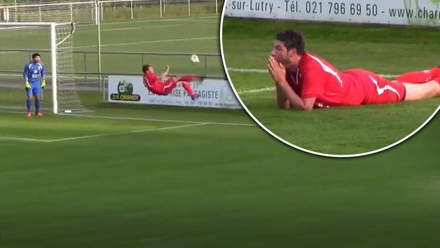 Schweizer Kicker erzielt das Eigentor des Jahres (Bild: YouTube.com)