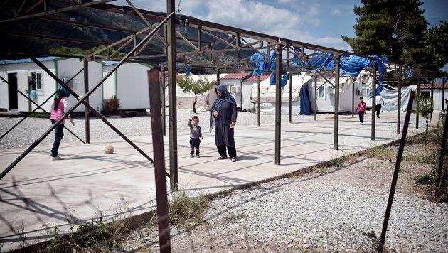 Das Camp Malakassa in der Nähe von Athen (Bild: AFP)