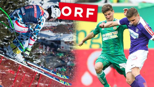 ORF kämpft auch um Kitzbühel und Bundesliga! (Bild: GEPA, ORF)