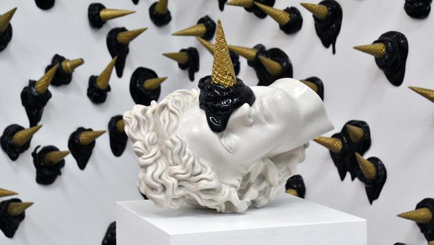 Abel Bentin ist bekannt für seine oft witzigen Skulpturen (Bild: Clara Milena Steiner)
