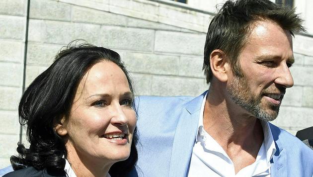 Eva Glawischnig und ihr Mann Volker Piesczek (Bild: APA/ROBERT JAEGER)