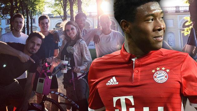 Alaba als Kino-Star: Nebenrolle in Komödien-Hit (Bild: AFP/CHRISTOF STACHE, instagram.com)