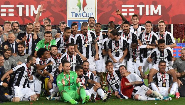 Juventus nach 2:0 über Lazio zum 12. Mal Cupsieger (Bild: AFP)