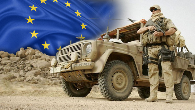 Ein österreichischer EUFOR-Soldat 2008 im Tschad (Bild: BUNDESHEER/PETER LECHNER, thinkstockphotos.de)