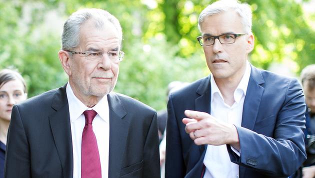 Alexander Van der Bellen und Lothar Lockl (re.) (Bild: APA/GEORG HOCHMUTH)