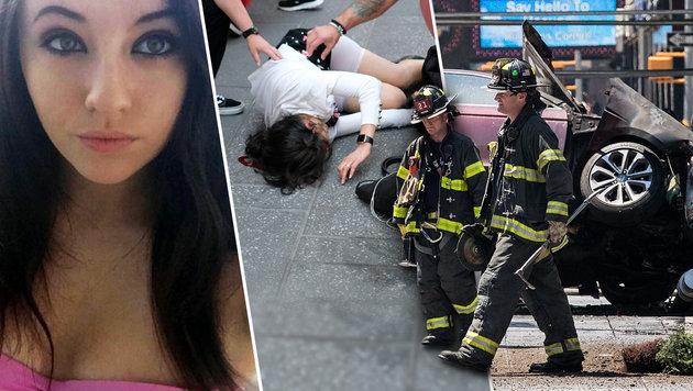 Alyssa Elsmann (li.) kam bei der Wahnsinnstat ums Leben. (Bild: AFP/Drew Angerer, AFP/JEWEL SAMAD, instagram.com)