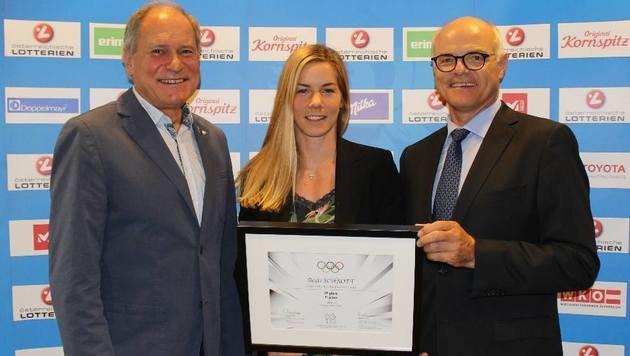 Beate Schrott ist jetzt offiziell Olympia-Siebente (Bild: ÖOC)