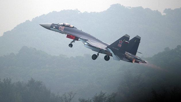 Ein chinesischer Suchoi-Kampfjet (Bild: AFP)