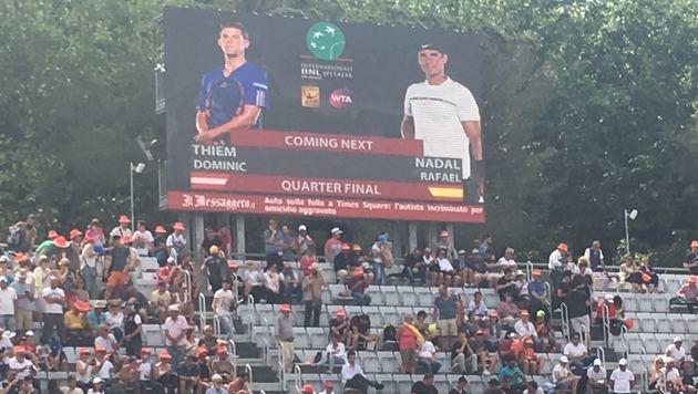 Hier schlagen sich Thiem und Nadal in Rom ein (Bild: Franz Hollauf)