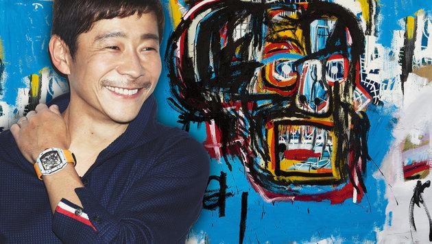 """110,5 Millionen Dollar zahlte Yusaku Maezawa für das Werk """"Untitled"""" von Jean-Michel Basquiat. (Bild: AP)"""