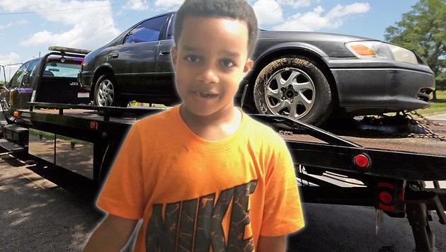 Der sechsjährige Kingston Frazier wurden von Autodieben entführt und kaltblütig im Wagen getötet. (Bild: twitter.com/Jackson Police, ASSOCIATED PRESS)
