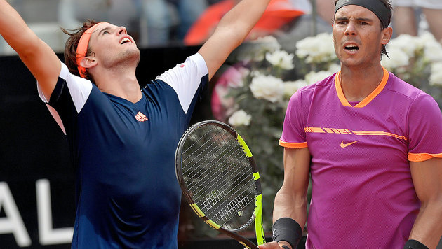 Sensation! Dominic Thiem führt Nadal in Rom vor (Bild: AP, AFP)