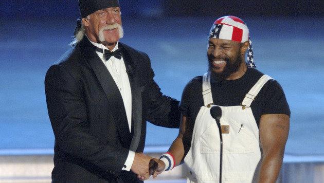 Mr. T an der Seite von Hulk Hogan (Bild: AFP)