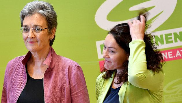 Lunacek und Felipe genießen eine breite Unterstützung innerhalb der Partei. (Bild: APA/BARBARA GINDL)