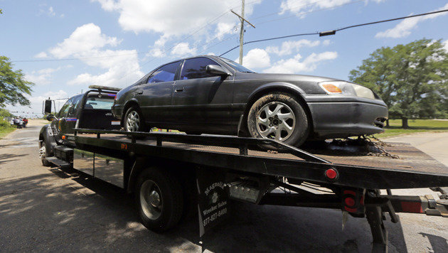 In diesem Wagen wurde die Leiche des sechsjährigen Kingston Frazier gefunden. (Bild: Associated Press)