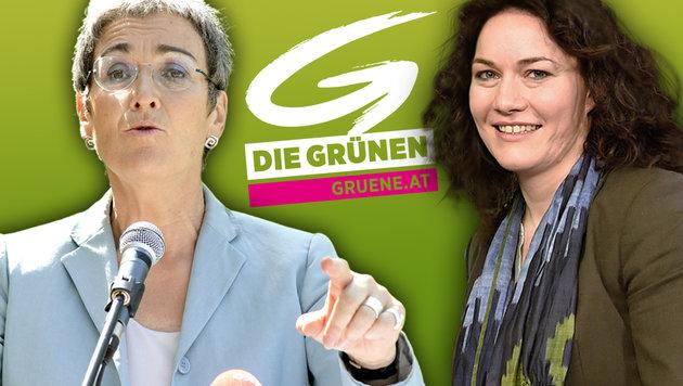 Ulrike Lunacek oder Ingrid Felipe - wer übernimmt das Himmelfahrtskommando? (Bild: APA/HELMUT FOHRINGER, APA/HERBERT P. OCZERET)