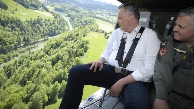 Verteidigungsminister Hans Peter Doskozil bei der Katastrophenübung in Salzburg (Bild: APA/BUNDESHEER/GUNTER PUSCH)