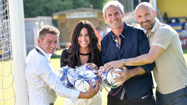 Michael Kosch, Laura Wiesinger, Michael Konsel und Andreas Gass (von links). (Bild: Markus Wenzel)