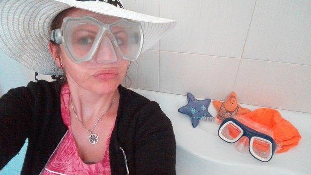 Marlies Freithofnig aus Feldkirchen will gerne die Badewanne mit der Badehütte tauschen.