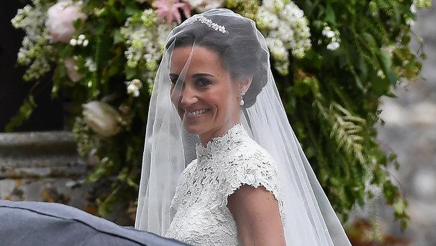 Wunderschöne Braut: Pippa Middleton, die Schwester von Herzogin Kate, heiratet James Matthews. (Bild: AFP)