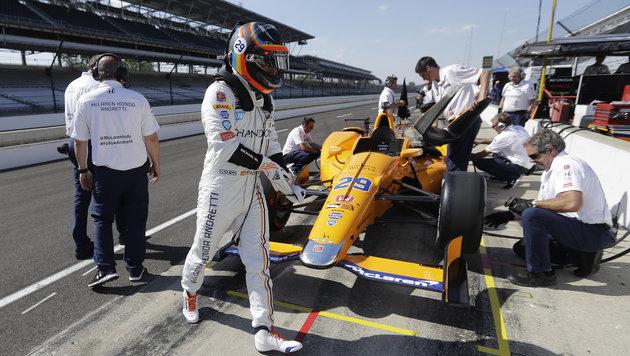 Alonso im letzten Indy-Training im Spitzenfeld (Bild: AP)