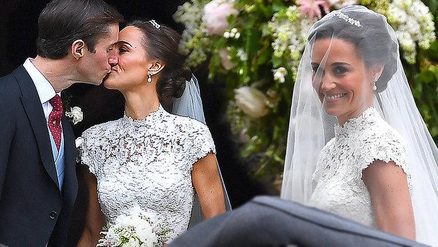 Meghan Markle war mit Harry bei Pippas Hochzeit! (Bild: AP)