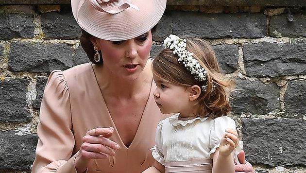 Herzogin Kate mit Tochter Charlotte (Bild: AFP or Licensors)