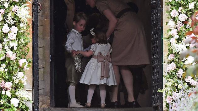 Prinz George und Prinzessin Charlotte übernehmen bei der Hochzeit ihrer Tante kleine Aufgaben. (Bild: AFP)