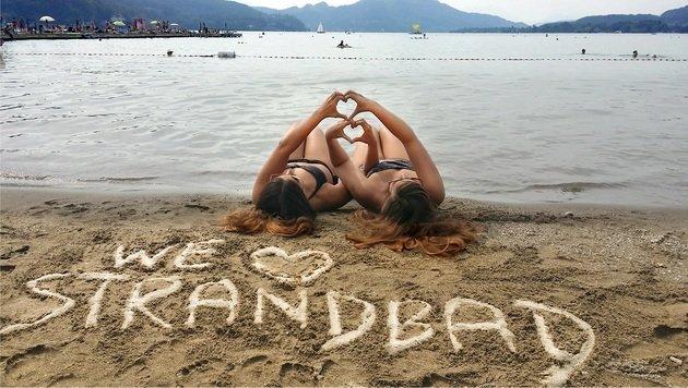 Nicole Henne aus Köttmannsdorf hat mit ihrer Freundin dieses kreative Foto gemacht.