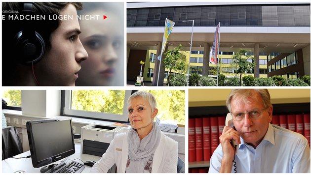 """Netflix-Serie als """"Vorbild"""" für Suizid-Versuch an Ischler Schule - Direktorin Moser und Enzenhofer. (Bild: Hörmandinger (2), Netflix, Koller)"""