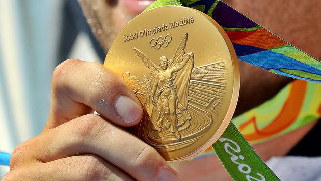 Rost und schwarze Flecken auf Rio-Medaillen (Bild: GEPA)