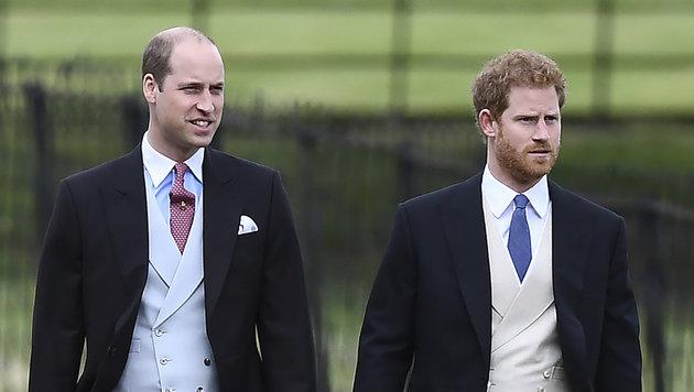 Die Prinzen William und Harry (Bild: AP)