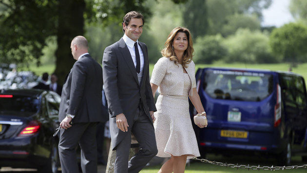 Berühmter Gast: Tennis-Star Roger Federer mit seiner Frau Mirka (Bild: Associated Press)