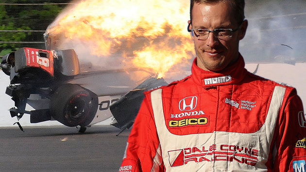 Horror-Crash: Indy-Pilot Bourdais schwer verletzt! (Bild: AP, GETTY IMAGES NORTH AMERICA)