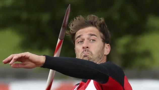Matthias Kaserer siegte mit dem Speer. (Bild: Andreas Tröster)