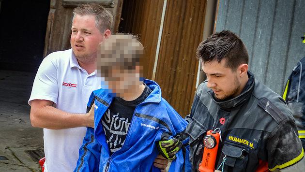 13-Jähriger versinkt bis zum Hals in Mais-Silo (Bild: FF Freiling/Buschek Sebastian)