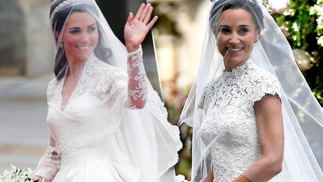 Kate versus Pippa: Wer hat's besser getroffen? (Bild: AP/Justin Tallis, AFP/ODD ANDERSEN)