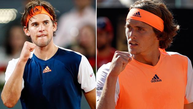 Thiem und Zverev mischen die Tennis-Szene auf (Bild: AFP, AP)