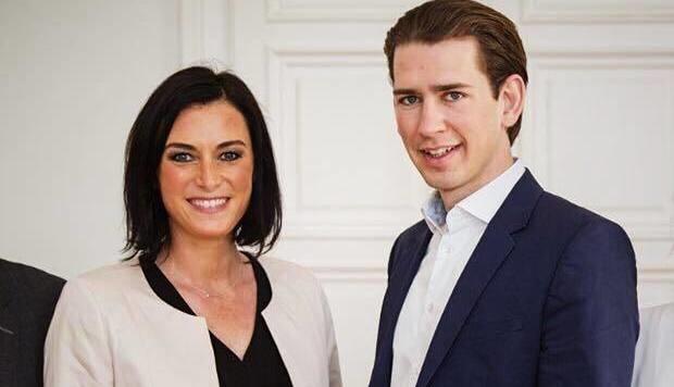 Elisabeth Köstinger mit Sebastian Kurz (Bild: facebook.com/Elisabeth Köstinger)