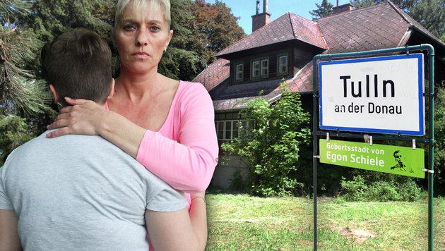 Das Opfer (15) und seine Mutter (Bild: Andi Schiel, krone.at-Grafik)