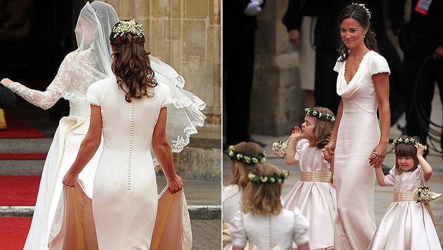 Pippa sorgte 2011 vor allem mit ihrem Po für Schlagzeilen nach der Royal Wedding. (Bild: AFP)
