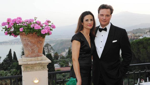 Colin Firth mit Ehefrau Livia Giuggioli (Bild: Viennareport)